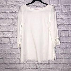 Lilly Pulitzer White Linen Tunic w/belt